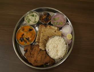 Fish Thali in our Seafood Menu